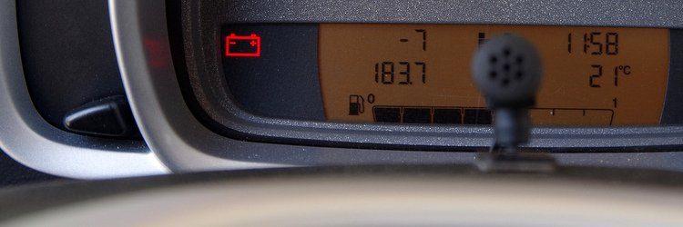 Simbolo batteria auto